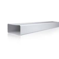 TUBO PVC BLANCO RECTANGULAR S H 55 110 1500