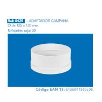 ADAPTADOR CAMPANA 125 a 120 mm